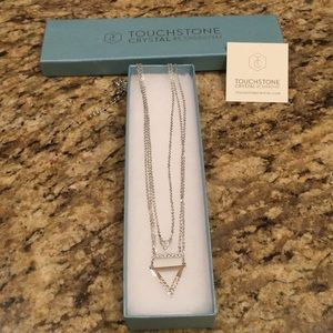 Touchstone crystal necklace Swarovski Crystals